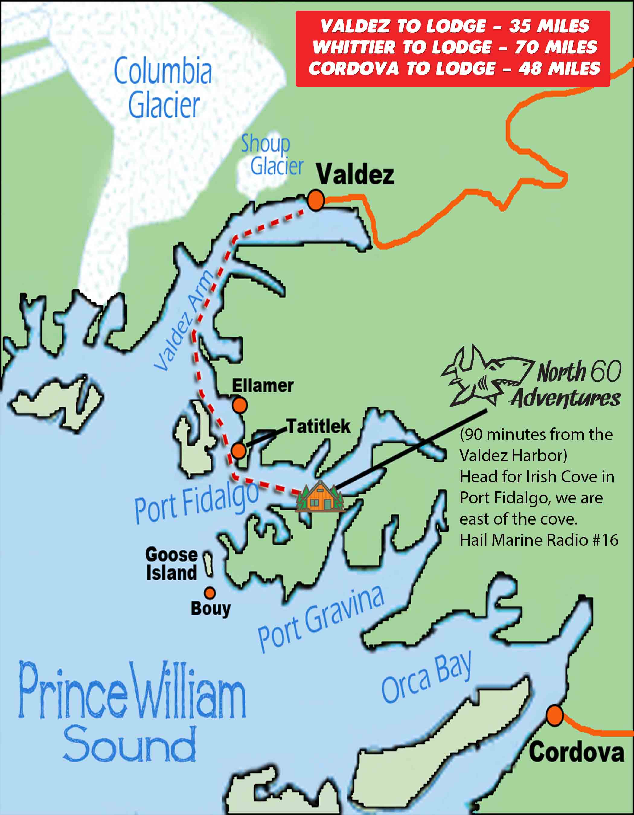 Valdez Fishing Map